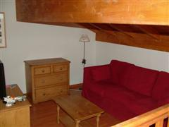 mezzanine in self catering accommodation in Pralognan in Vanoise, French Alps