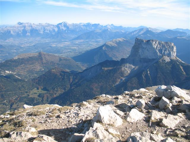 Mont Aiguille vercors, French Alps on guided walking France