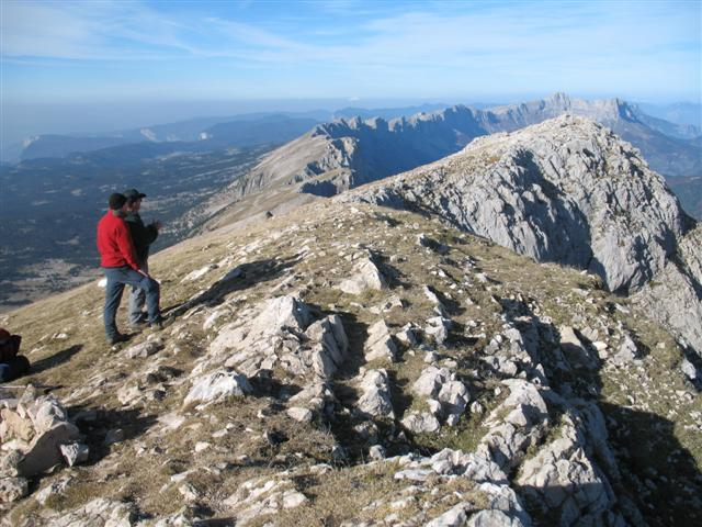 views from Grand veymont vercors alpin walking
