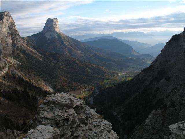 naturel sinks or pot holes in the karstic landscape vercors guided walking france
