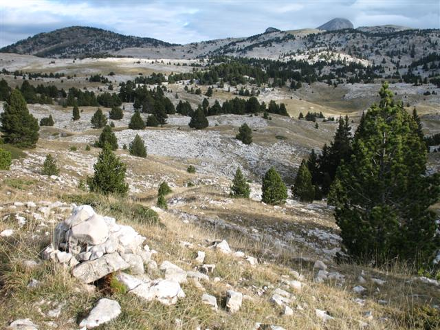 Vercors high plateau in alps on guided walking France