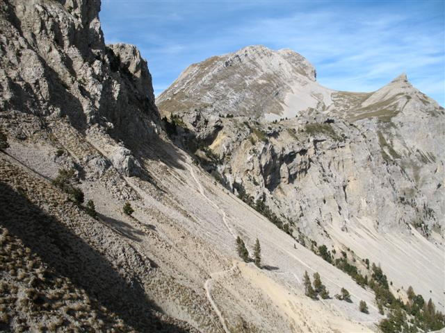 Grand Veymont in Alps - highest point in vercors on French guided walking holiday